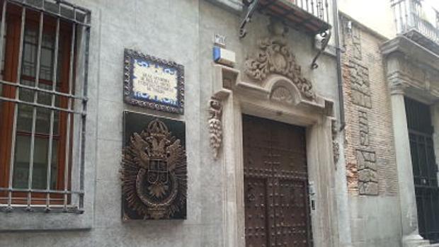 La sede de la Real Academia, en la calle de la Plata