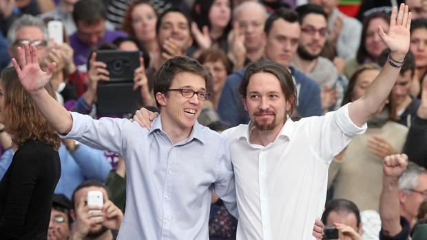 Mitin conjunto de Iglesias y Errejón a comienzos de 2015 en Valencia