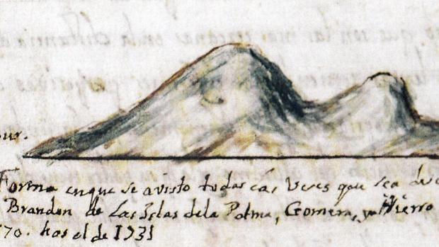 Pedro Agustín del Castillo y Vergara, en 1731, veía así San Borondón