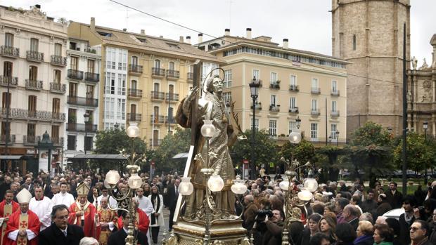 Imagen de archivo de la procesión en honor a San Vicente Mártir