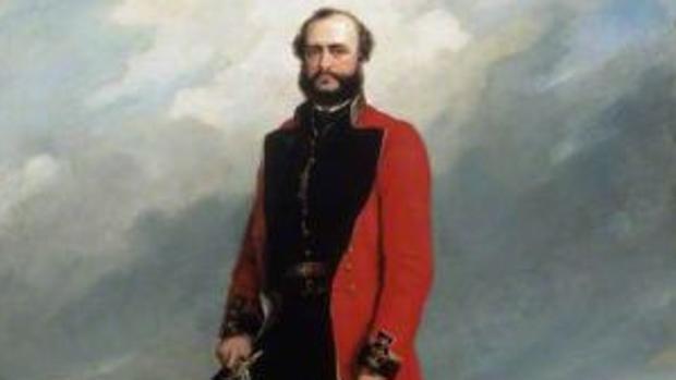 Charles Windham visto por el pintor británico Charles Couzens, 1858