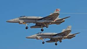 Cazas F-18 del Ala 15, con base en Zaragoza, designado para desplegar en Ämari (Estonia) de mayo a agosto
