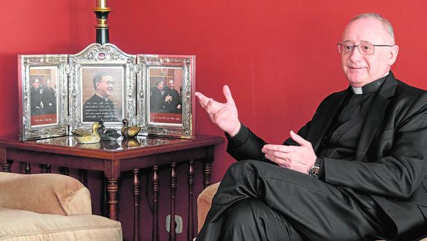 El vicario del Opus Dei Ignacio Aparisi, durante la entrevista realizada en Valladolid