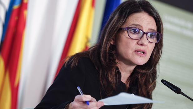 Imagen de Mónica Oltra en el pleno del Consell celebrado este viernes