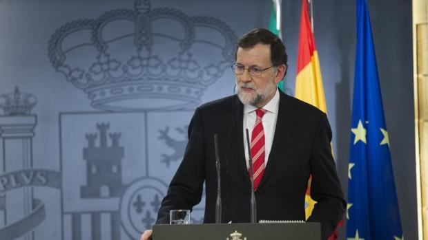 Rajoy, este viernes, en la rueda de prensa ofrecida tras la reunión con el primer ministro de Italia