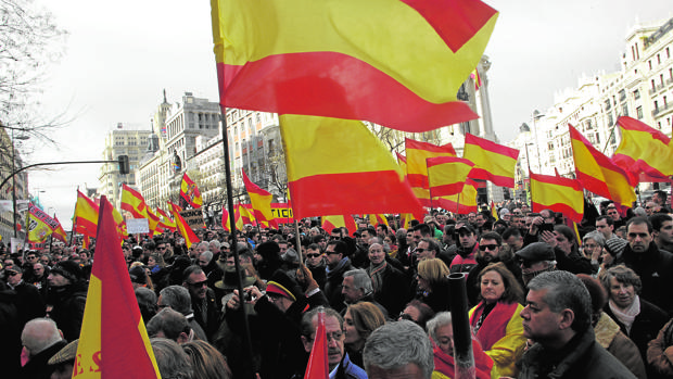 Manifestación ayer en Madrid