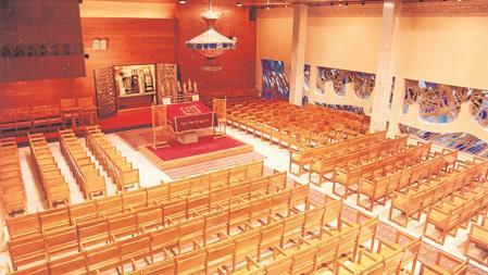 Interior de la sinagoga de la calle Balmes