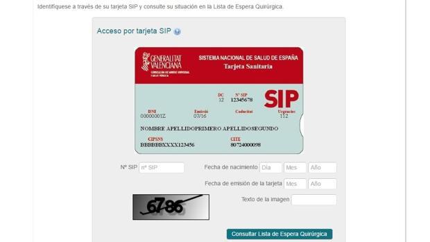 Generalitat valenciana sanidad a ade en su web un for Oficinas de la seguridad social en valencia