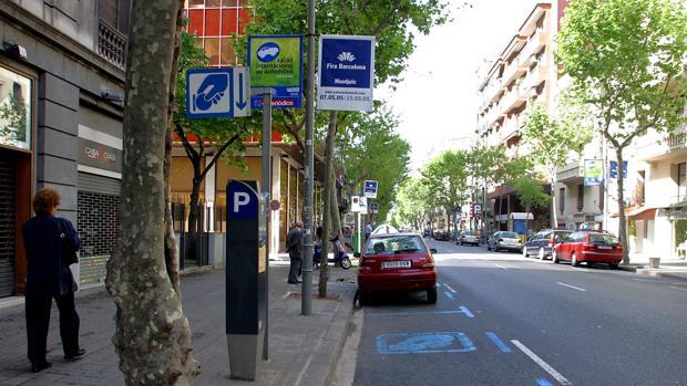 zona de aparcamiento en Barcelona