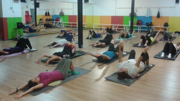 Imagen de archivo de una sesión de pilates