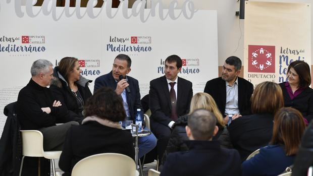 Imagen de la presentación del certamen «Letras del Mediterráneo» en Castellón