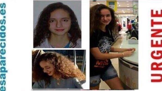 Cartel con fotos de la desaparecida, difundido en las redes sociales