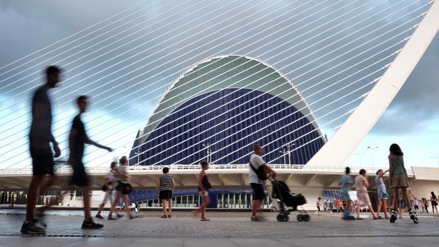 Imagen del Ágora de la Ciudad de las Artes y las Ciencias