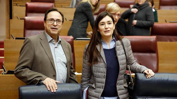 Imagen de los consellers de Sanidad y Hacienda, Carmen Montón y Vicent Soler