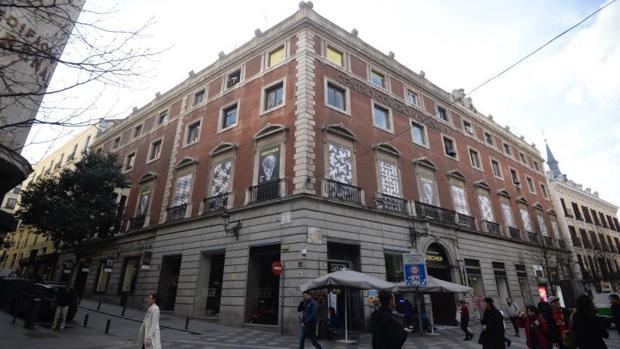 Fachada del Palacio de Gaviria, en la calle Arenal