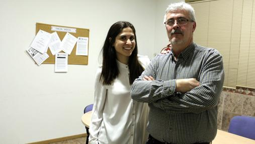 Cristina Gómez (psicóloga) y José Alberto Ortega (presidente de Larcama)
