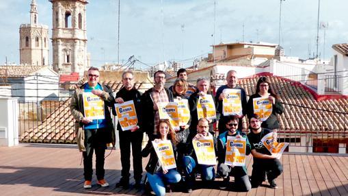 Imagen de los represenantes de las entidades que han firmado el manifiesto