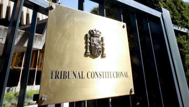 Acceso al Tribunal Constitucional, en Madrid