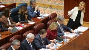 Debate parlamentario en un pleno de la Asamblea de Madrid