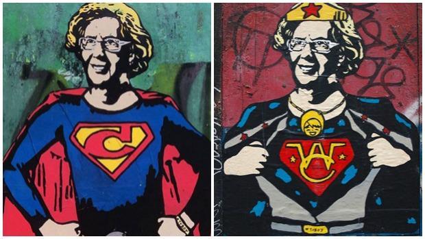 Graffitis sobre Carmena