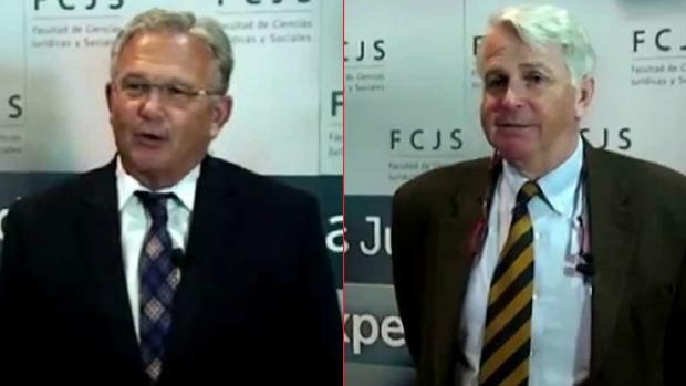 Pérez (izquierda) y Aguilera (derecha), los catedráticos involucrados
