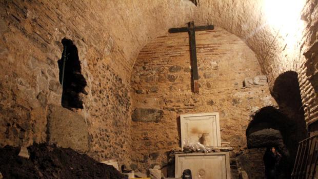 Una de las estancias de estos sótanos de Amador de los Ríos
