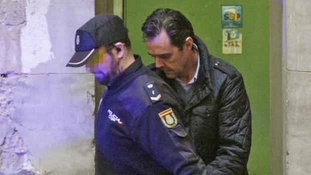 Miguel López, tras declarar en el juzgado antes de ingresar en prisión