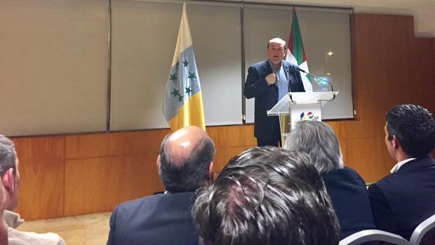 El presidente del PNV, Andoni Ortuzar, este jueves en Tenerife
