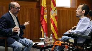 Echenique exige al PSOE formar un «cordón sanitario» contra el PP en Aragón