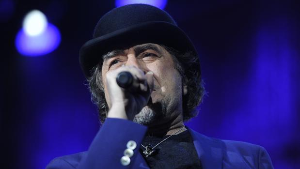 Joaquín Sabina en uno de sus conciertos