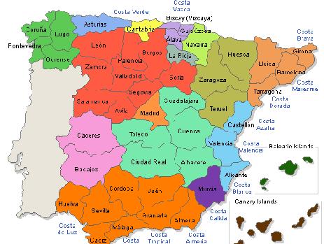 Un mapa incorrecto de España esta semana en una publicación extranjera
