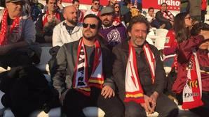 Garzón y Valiente, este domingo en el estadio del Rayo