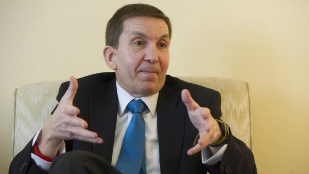 Manuel Moix, en una entrevista en ABC cuando era fiscal jefe de Madrid