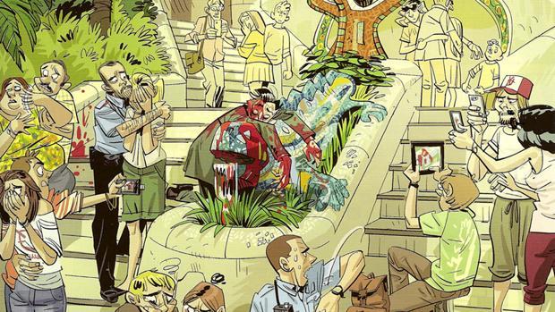 Una de las viñetas de «El fantasma de Gaudí»