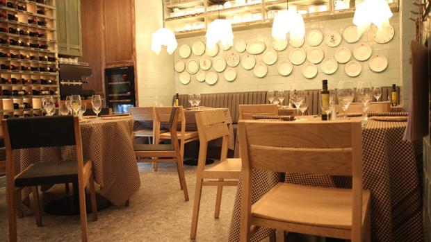 Sala dek restaurante La Santpere, en Madrid