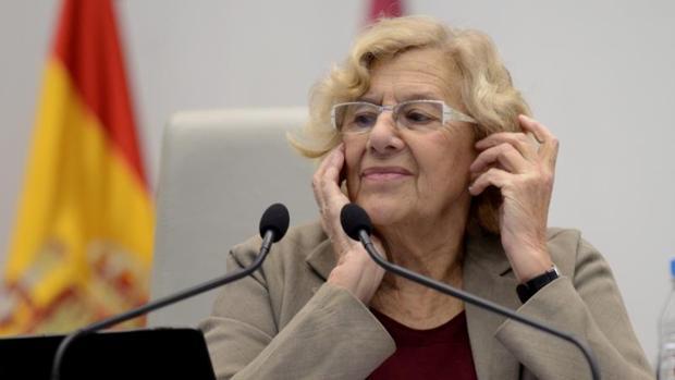 La alcaldesa de Madrid Manuela Carmena, en un pleno anterior