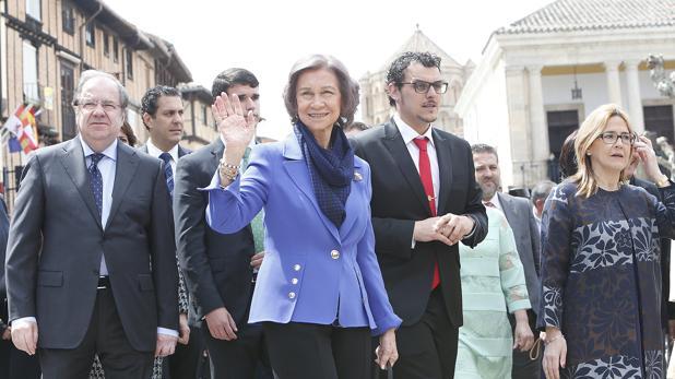 La Reina Sofía durante la inauguración de la último exposición de Las Edades del Hombre
