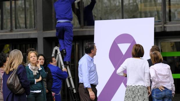 Cartel de la campaña contra la violencia de género puesta en marcha en las últimas semanas