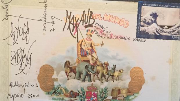 Postal para Manuela Carmena, enviada por Fernando Arrabal