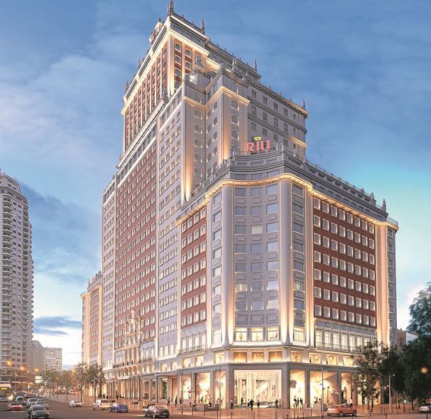 Recreación del futuro aspecto del Edificio España