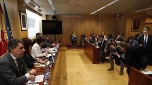 El expresidente de la Comunidad de Madrid, Ignacio González, este viernes, en la comisión de investigación de la Asamblea