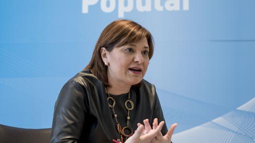 La presidenta del PPCV, en un momento de la entrevista