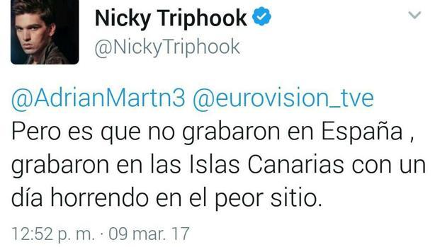 Hemeroteca: Nicky Triphook, de Eurovisión: «El vídeo lo grabaron en Canarias, no en España» | Autor del artículo: Finanzas.com