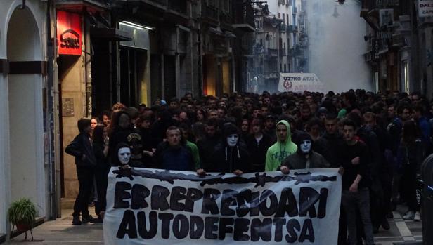 Imagen de la manifestación celebrada en Pamplona