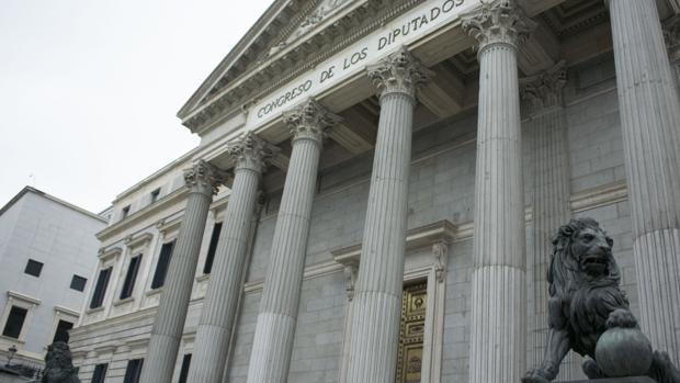 Imagen de la fachada principal del Congreso de los Diputados