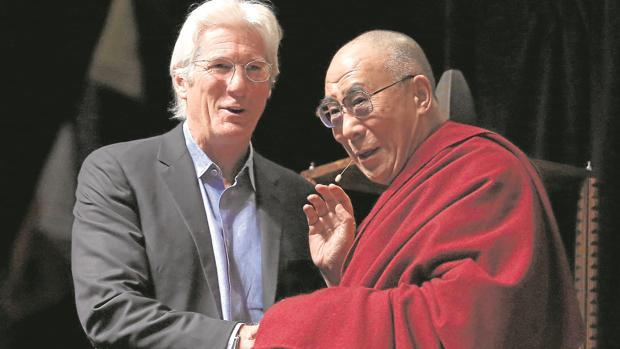 Richard Gere y el Dalai Lama, en una conferencia del líder budista
