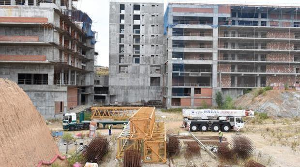El barro de Santa María de Benquerencia acoge la nueva construcción
