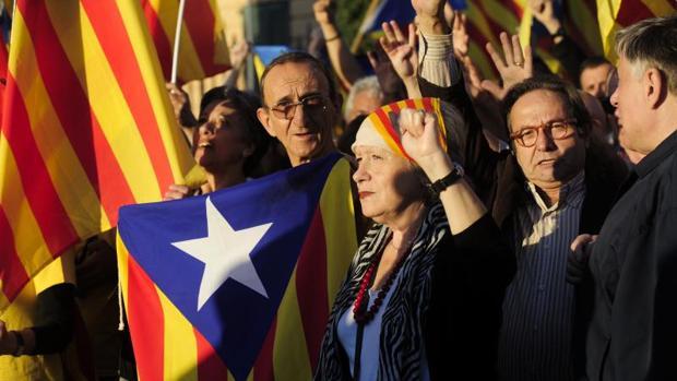 Protesta independentista organizada por la Asamblea Nacional Catalana en 2013