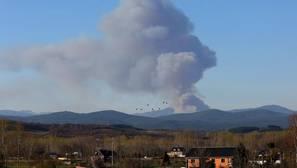 Incendio en la localidad berciana de Villar de Otero
