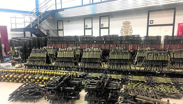 Imagen del material intervenido en «Cantábric Militaria»
